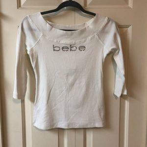 Bebe boat neck ribbed shirt
